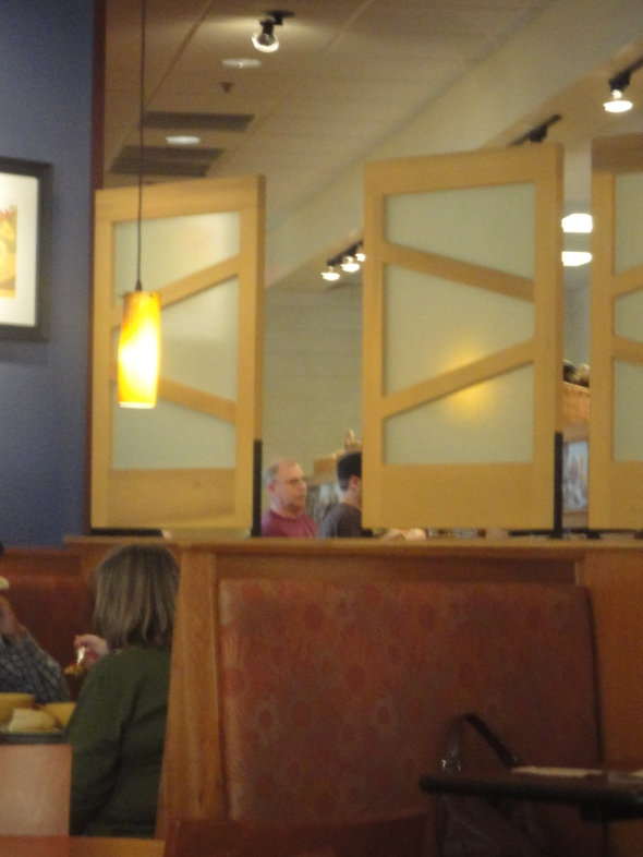...Panera for dinner with My Boys after a long magazine-read at Barnes + Noble...