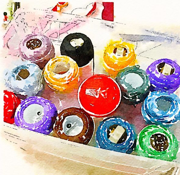 Painted in Waterlogue-Perle Cotton