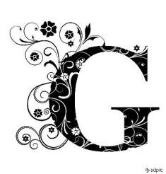 Decorated letter G